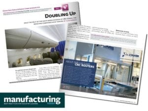 DMS CNC Routers Featured in Manufacturing Today Magazine with C & D Zodiac Aerospace