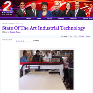 Freedom Machine Tool Followup Story from KNOP-TV