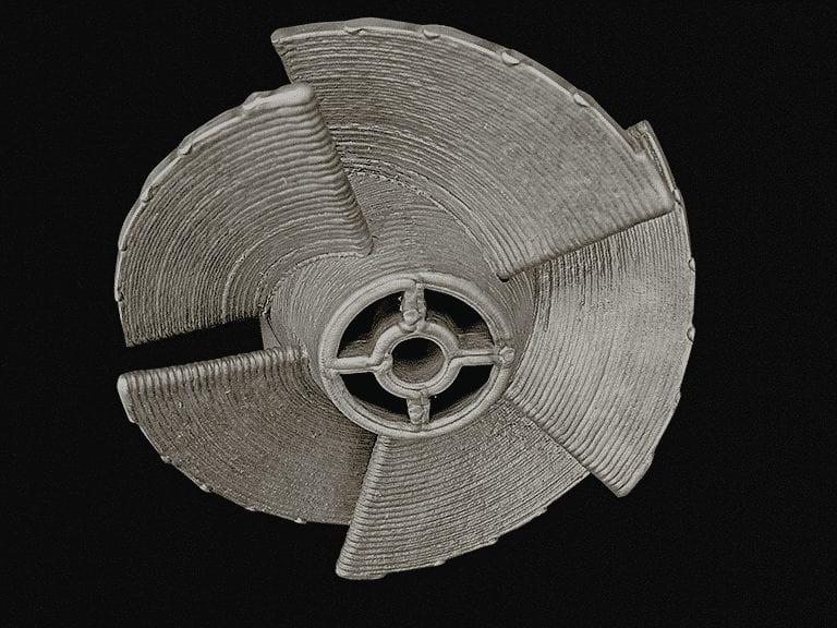 32 Printed aluminum propeller
