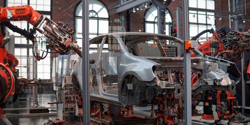 car on assembly line
