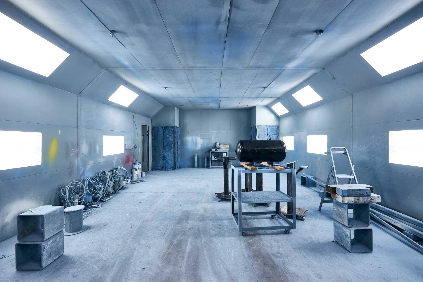 Paint shop on DMS factory floor