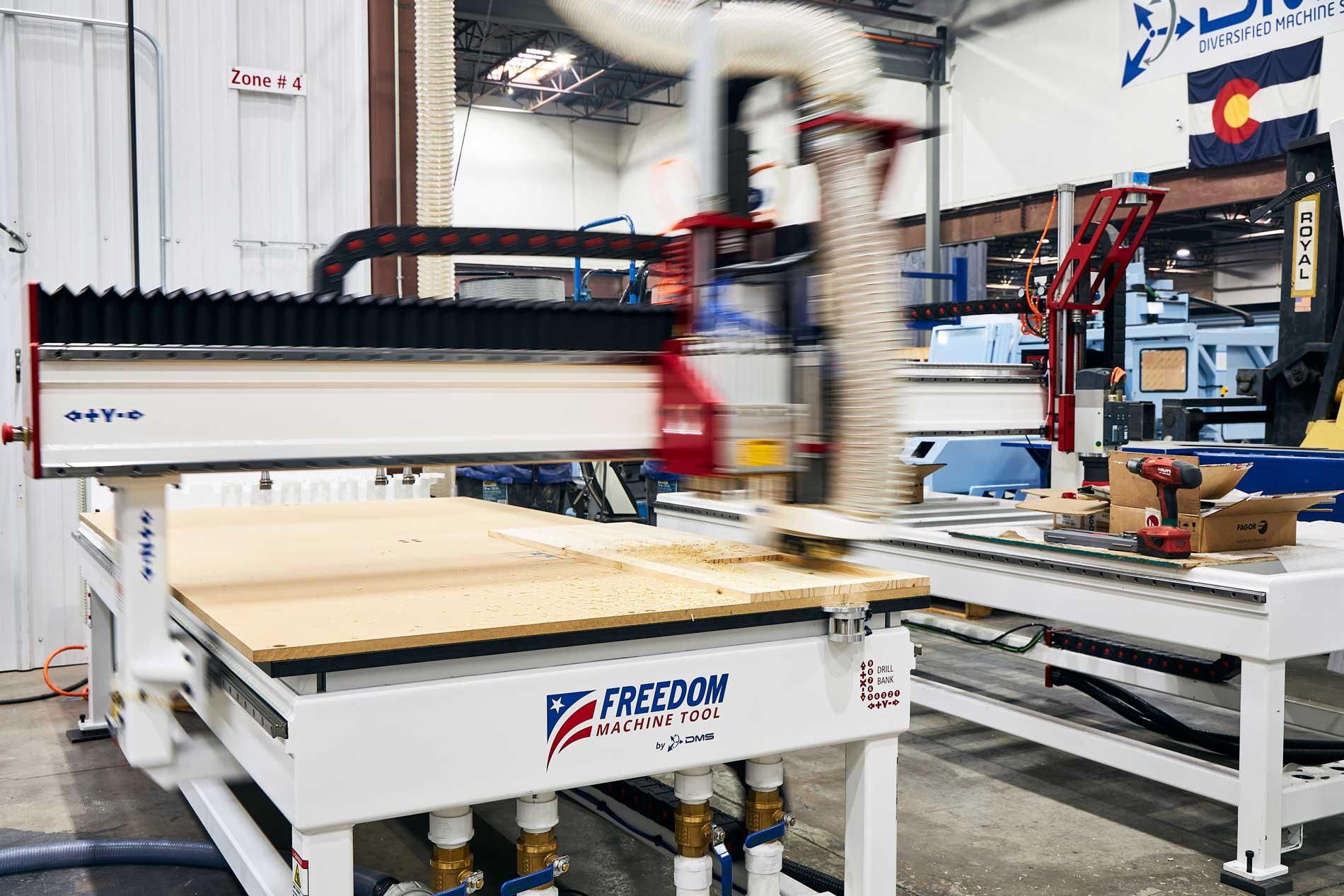 Freedom Machine on DMS floor