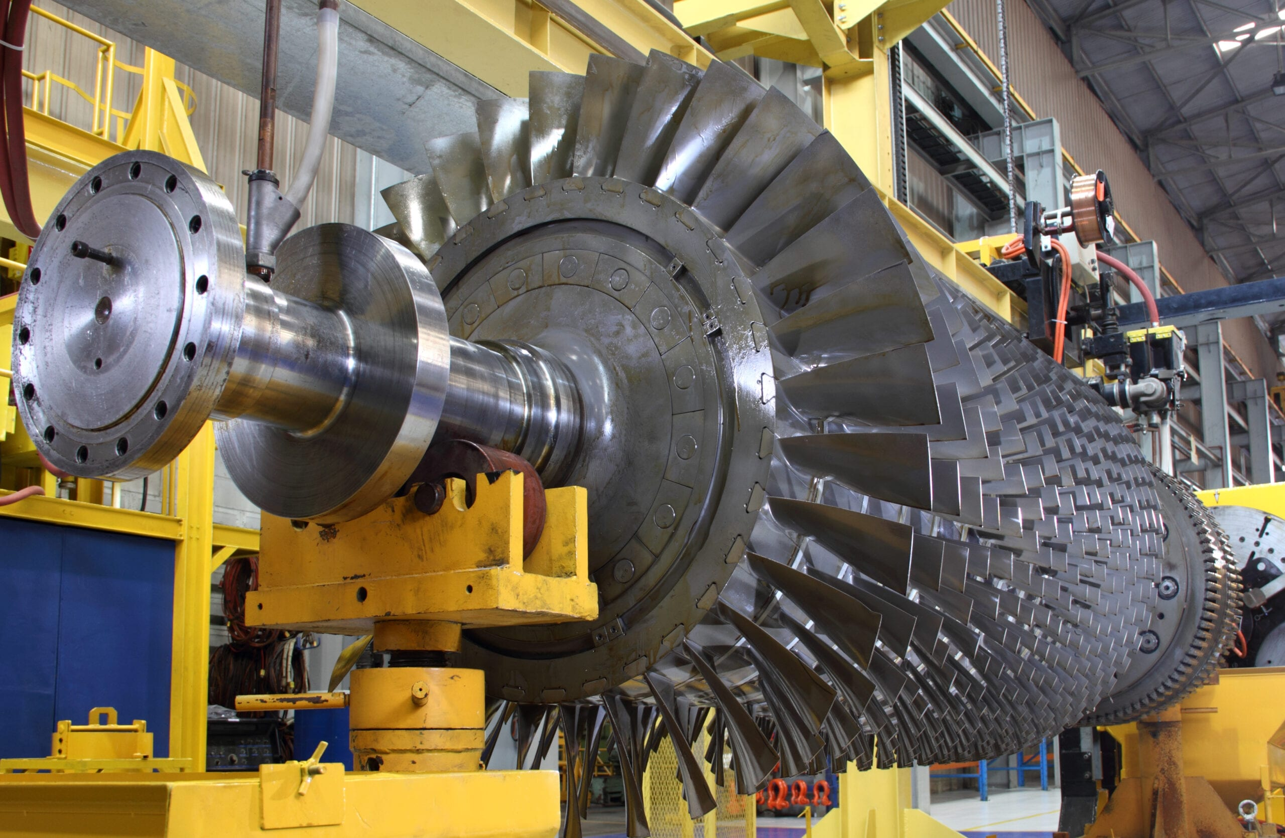 Turbine Rotor on Factory Floor