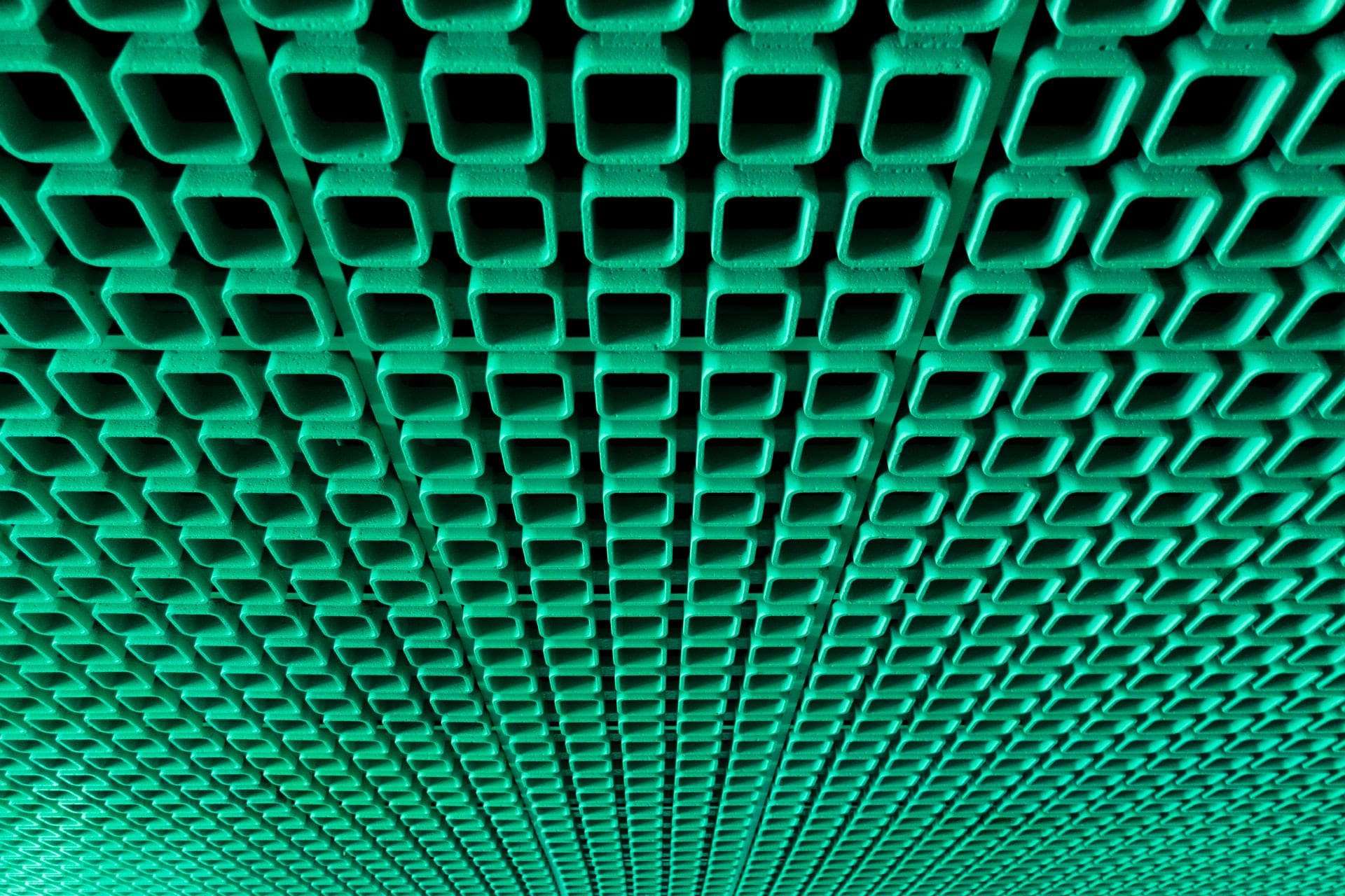 Green ceiling pattern