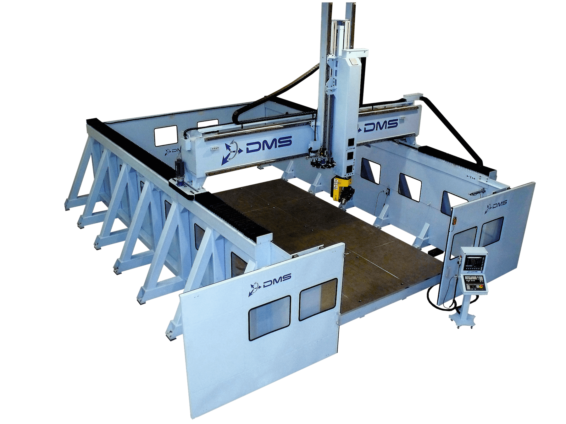 DMS-5-Axis-Enclosed-Overhead-Gantry-Side-Wall-CNC-Router