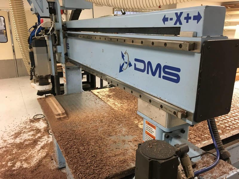 dms cnc router cutting wood